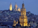 France-The Sacred-Heart Basilica in the Distance Montmartre Paris