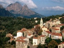 France-View of Evisa Corsica Island